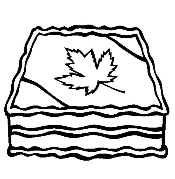 Cakes, : Canada Day Cake Coloring Pages