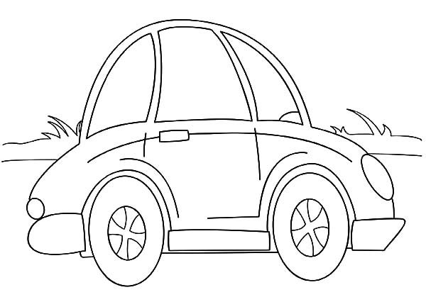 Beetle Car, : Cartoon Beetle Car Coloring Pages