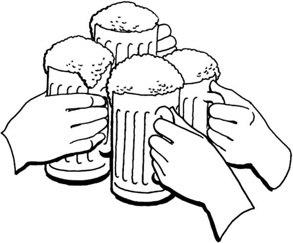 Beer, : Cheers Holiday of Beer Coloring Pages