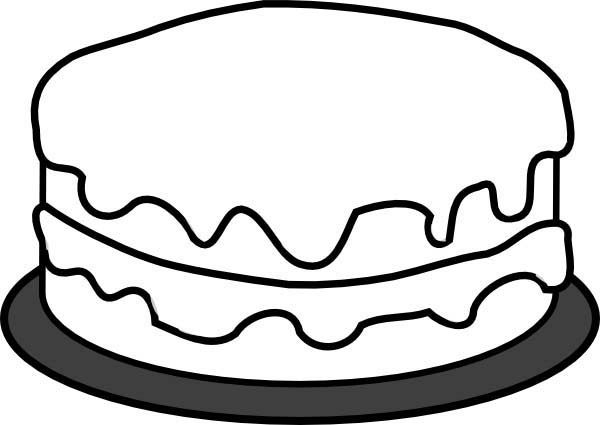 Free coloring pages of cake slice