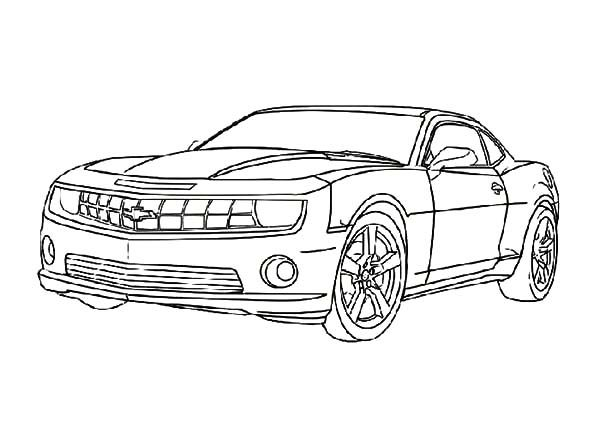 Bumblebee Car, : Chevrolet Camaro Bumblebee Car Coloring Pages