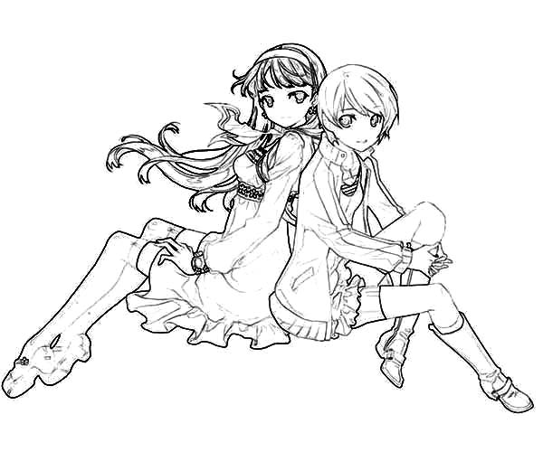 Coloring Pages For Best Friends : Chie satonaka best friends coloring pages