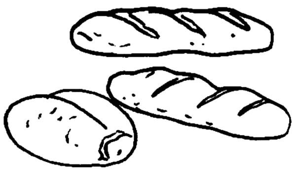 Chocolate Bread Coloring Pages