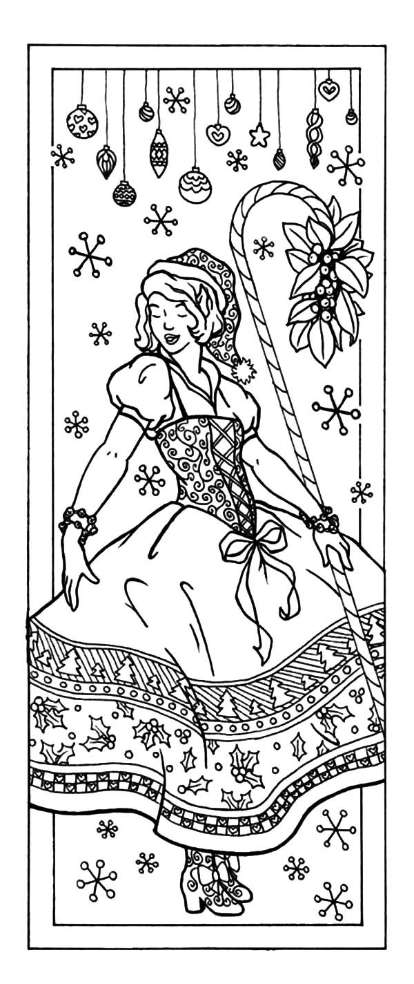Bookmarks, : Christmas Bookmarks Coloring Pages
