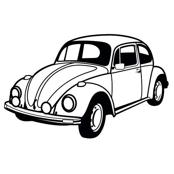Bug Car Coloring Pages : Vw bug coloring pages printable