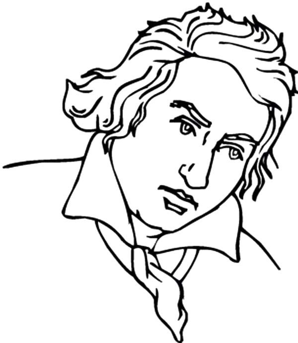 Beethoven, : Classical Music Beethoven Coloring Pages