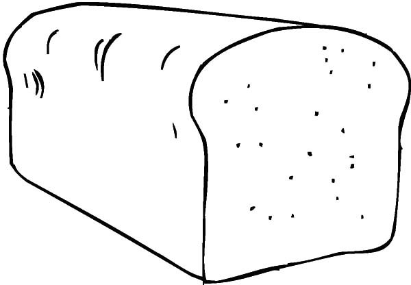Bread, : Cooking Bread Coloring Pages