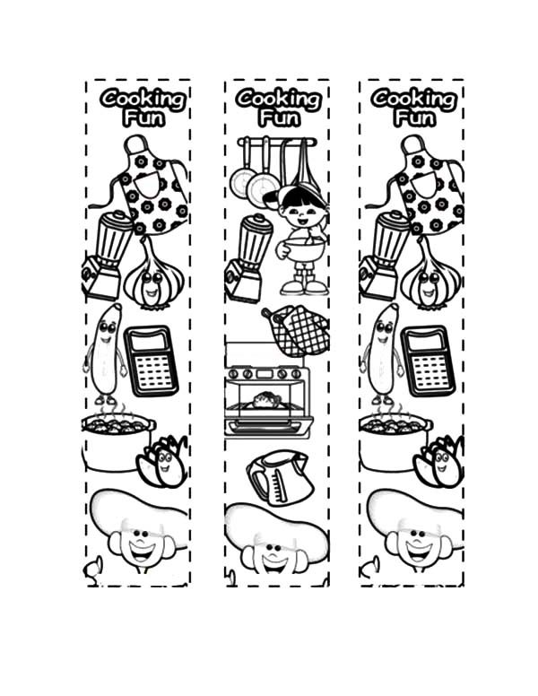 Cooking Fun Bookmarks Coloring Pages | Best Place to Color