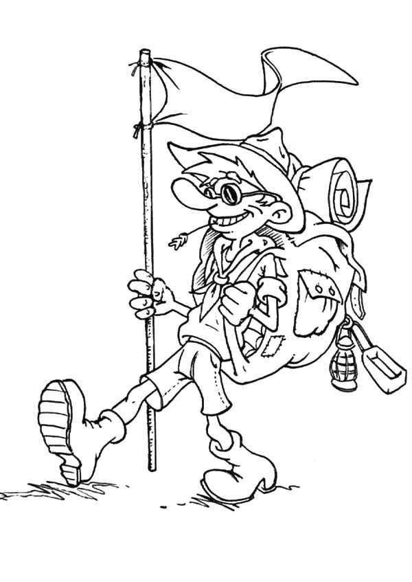 Boy Scouts, : Cool Boy Scouts Coloring Pages