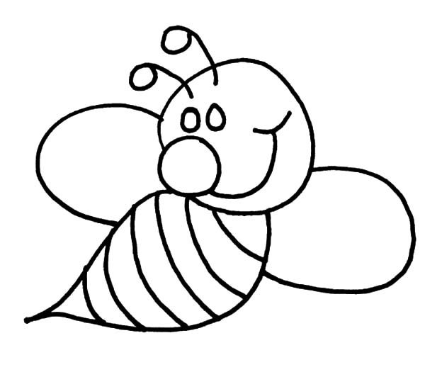 Bumble Bee, : Cute Bumble Bee Coloring Pages