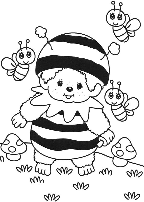 Bumble Bee, : Cute Bumble Bee Kid Coloring Pages