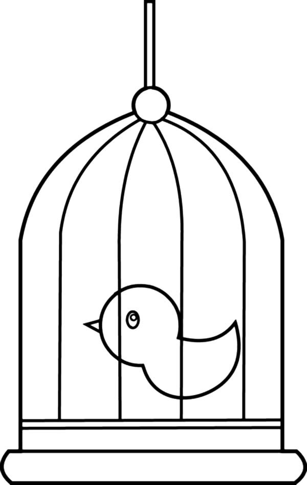 Bird Cage, : Cute Little Bird Cage Coloring Pages