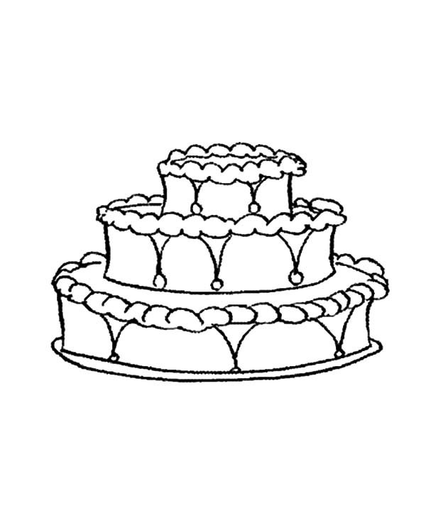 Cakes, : Decorating Cake Coloring Pages