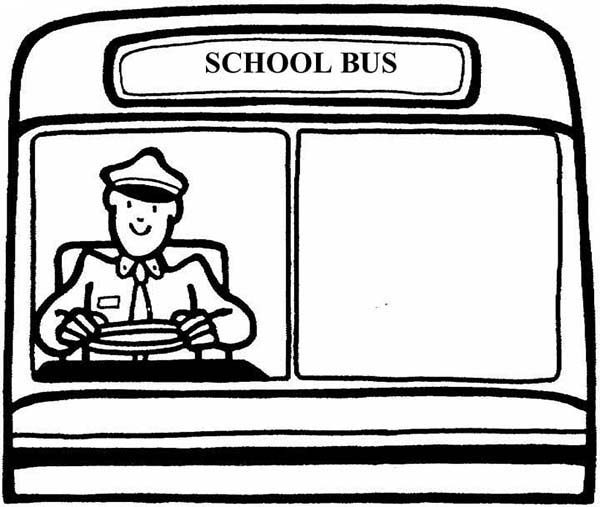 Bus Driver, : Dedicated School Bus Driver Coloring Pages