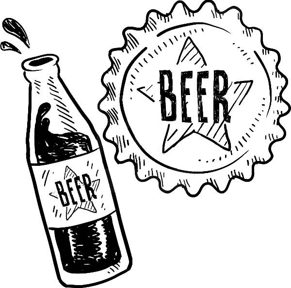 Beer, : Delicious Beer Coloring Pages