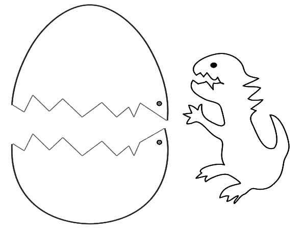 Broken Egg, : Dinosaurus Broken Egg Coloring Pages