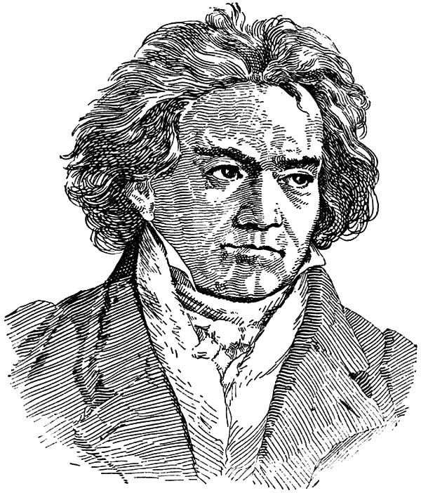 Beethoven, : Drawing Beethoven Coloring Pages