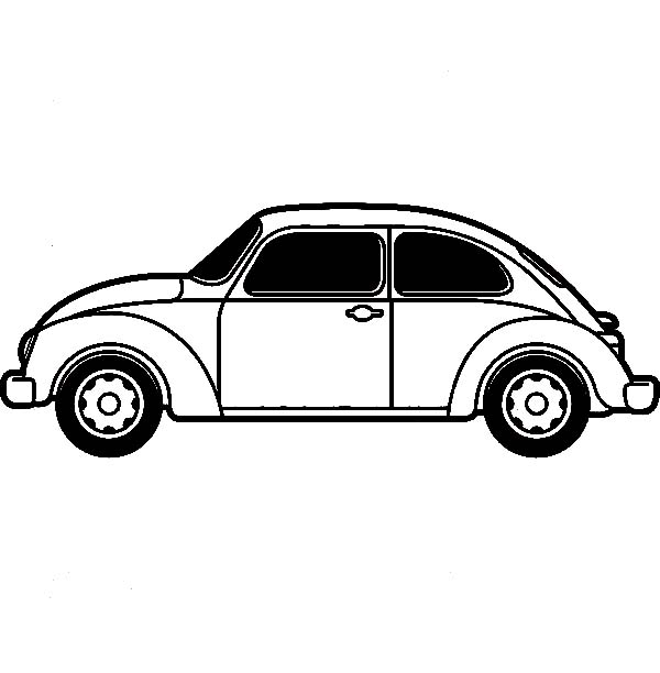 Bug Car Coloring Pages : Free volkswagen beetle coloring pages