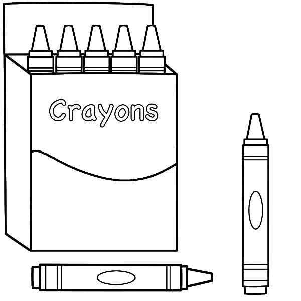 Box Crayons, : Drawing Box Crayons Coloring Pages