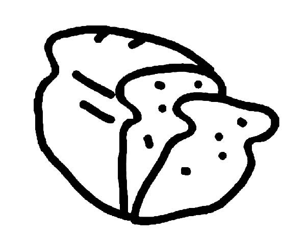 Bread, : Drawing Bread Coloring Pages