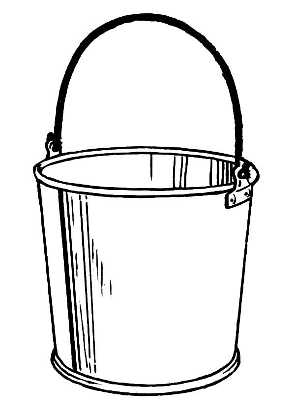 Bucket, : Drawing Bucket Coloring Pages