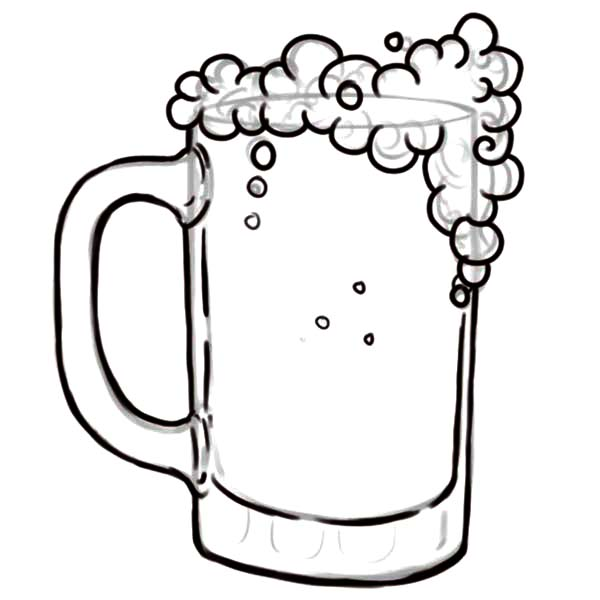 beer glass coloring page sketch coloring page