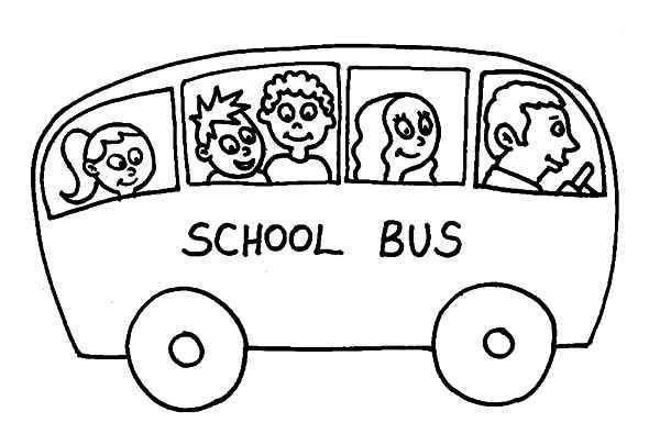 Bus Driver, : Drawing School Bus Driver Coloring Pages