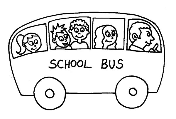 Drawing School Bus Driver Coloring Pages: Drawing School ...