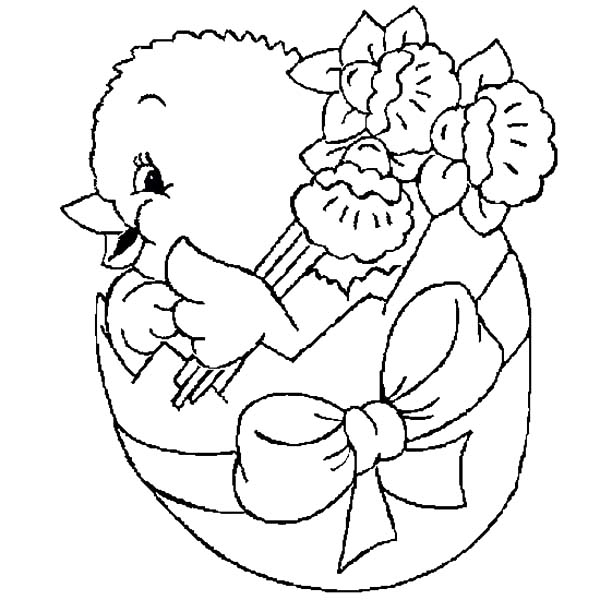 Boy Easter Egg Coloring Pages