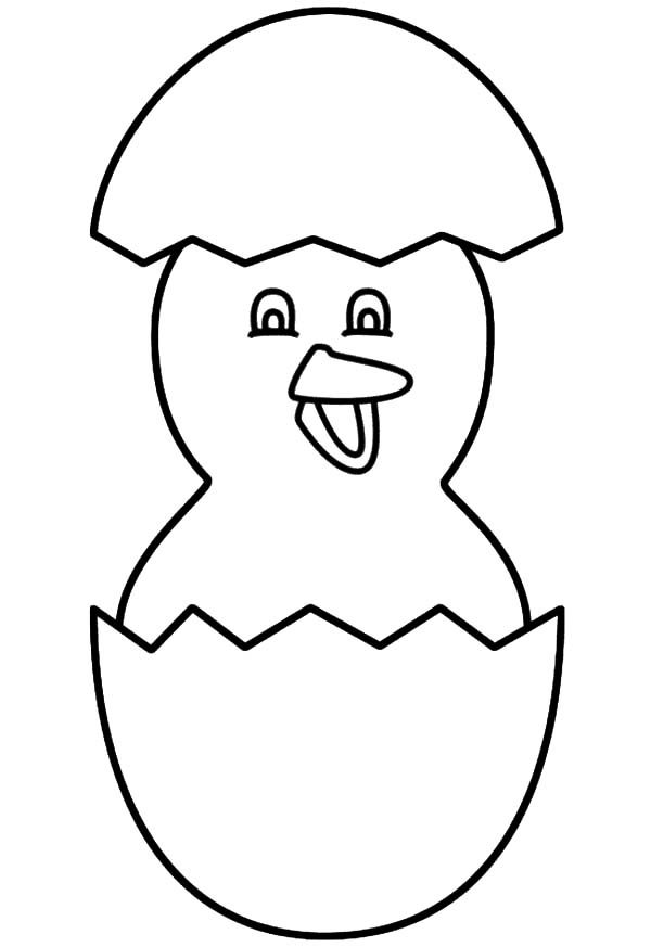 Broken Egg, : Easter Chicks Broken Egg Coloring Pages