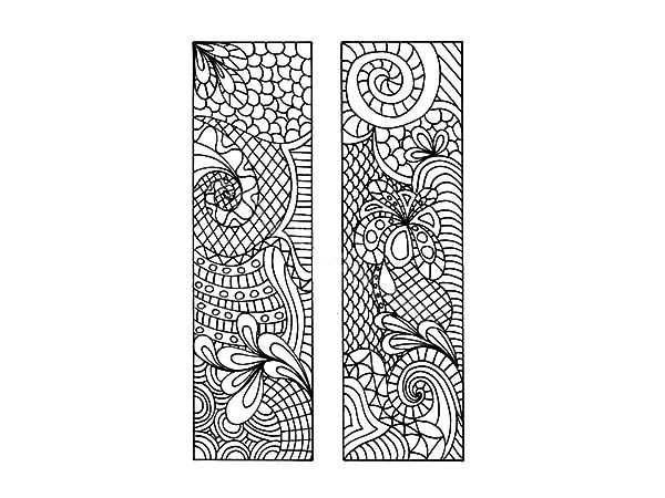 Bookmarks, : Ethnic Design Bookmarks Coloring Pages