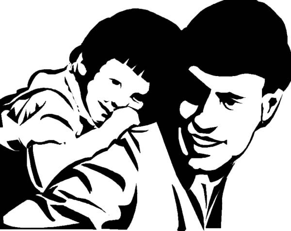 Best Dad, : Fall Asleep on Best Dad Back Coloring Pages