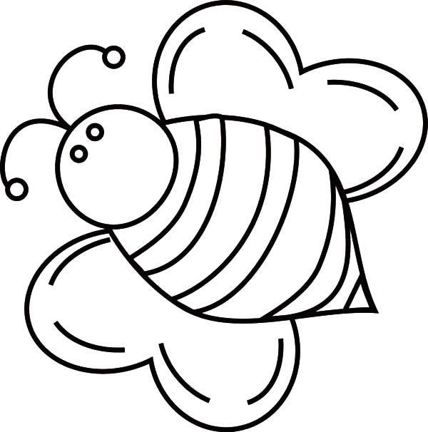 Fat bumble bee coloring pages