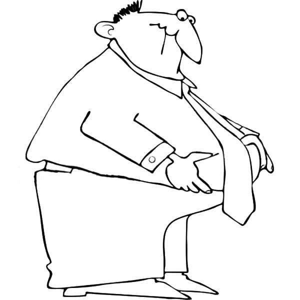 Business, : Fat Business Man Coloring Pages