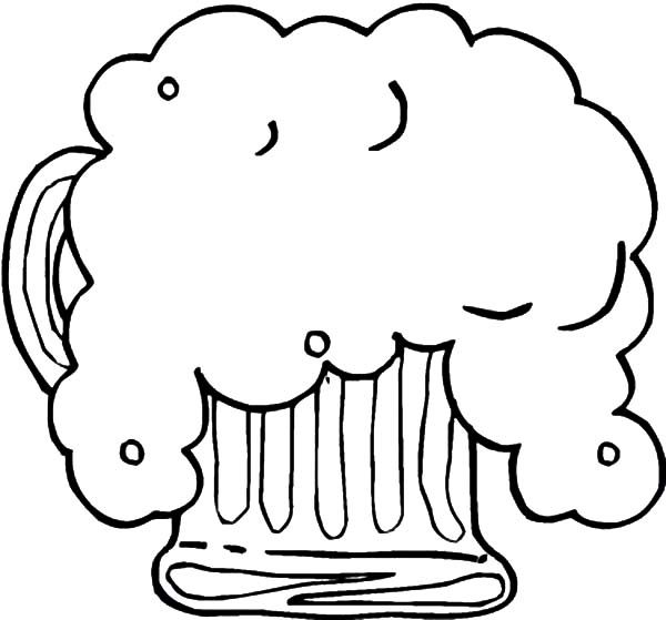 Beer, : Fresh Foaming Beer Coloring Pages