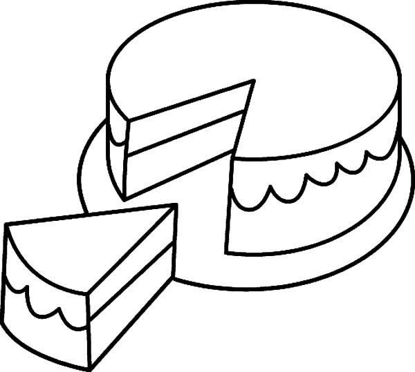 Frosted Cake Coloring Pages : Best Place to Color