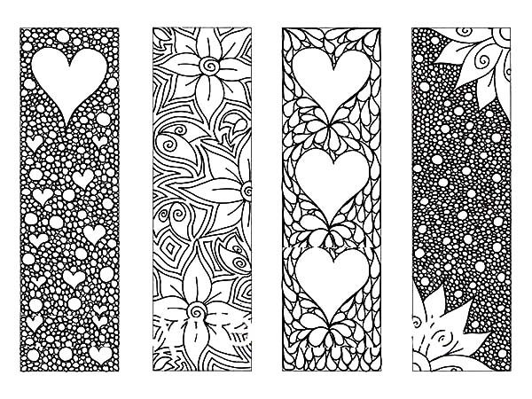Bookmarks, : Full of Flower Bookmarks Coloring Pages