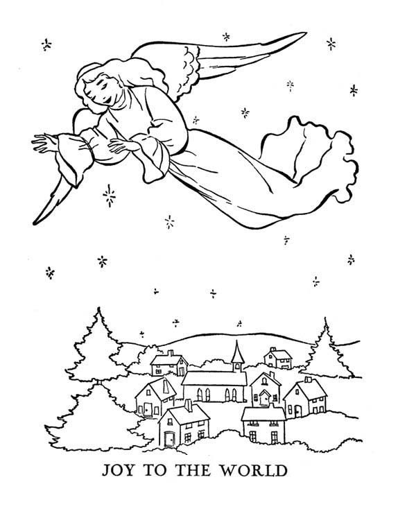 Bible Christmas Story, : Gabriel Sprean Joy to the World Bible Christmas Story Coloring Pages