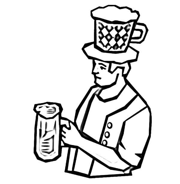 Beer, : German Guy Beer Coloring Pages