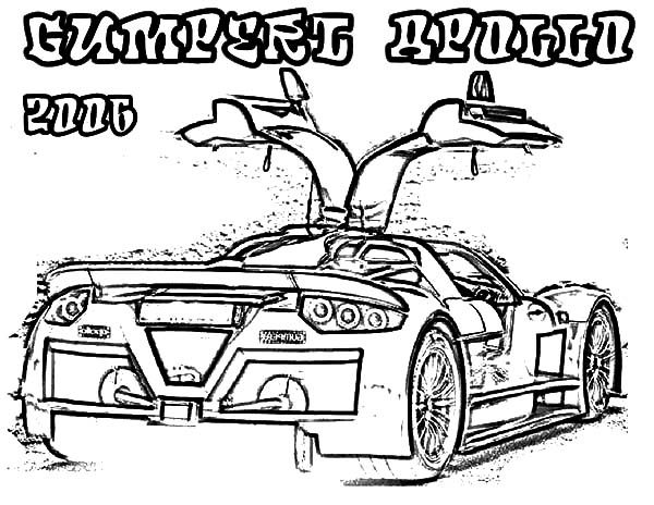 Bugatti Car, : Gumperl Apollo 2006 Bugatti Car Coloring Pages