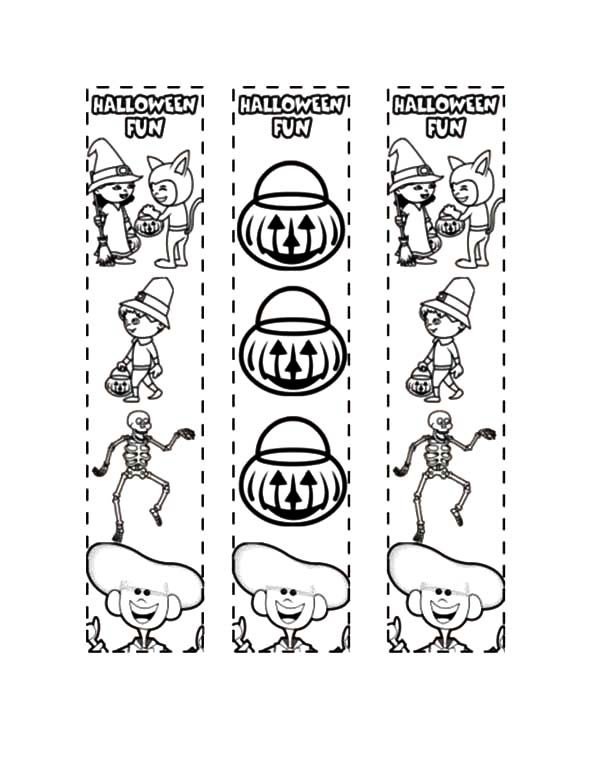Bookmarks, : Halloween Fun Bookmarks Coloring Pages