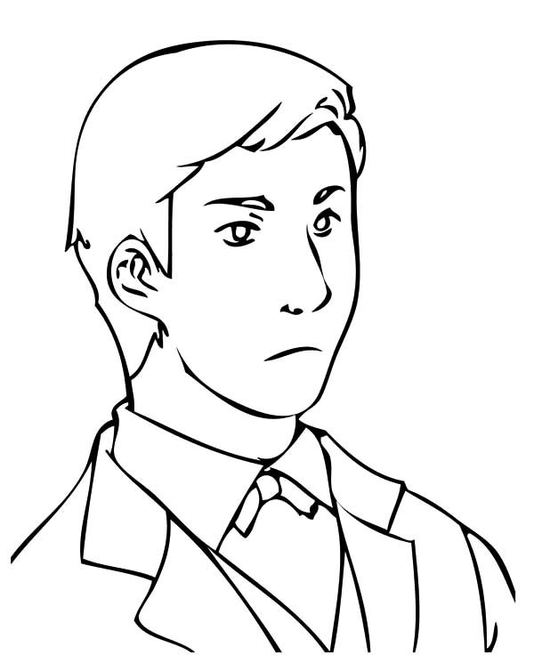 Business, : Handsome Business Man Coloring Pages