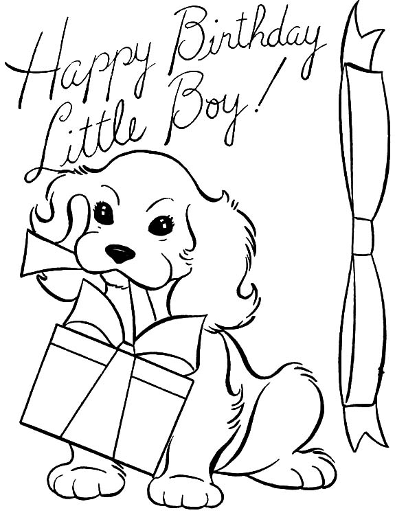 Birthday, : Happy Birthday Little Boy Coloring Pages