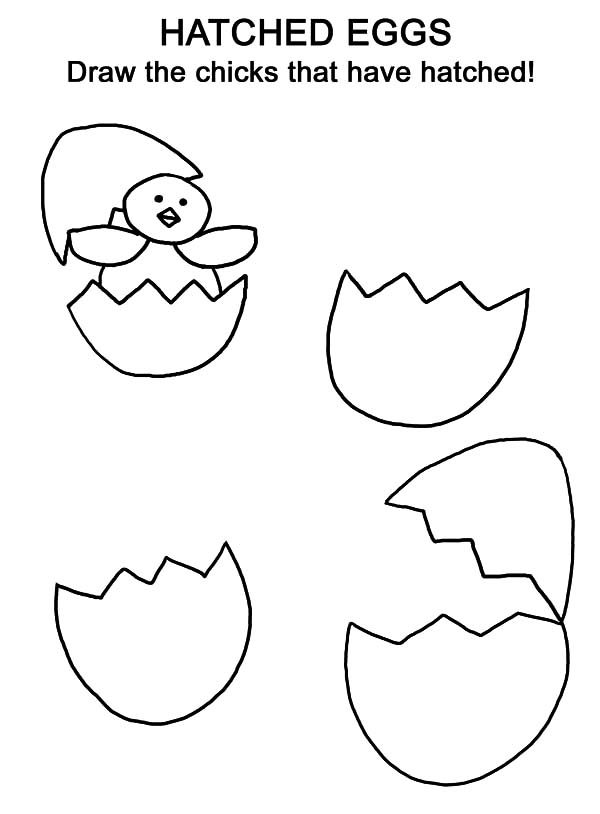 Cracked Egg Coloring Page Coloring Pages