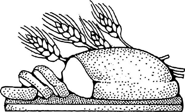 Bread, : Healthy Bread Coloring Pages