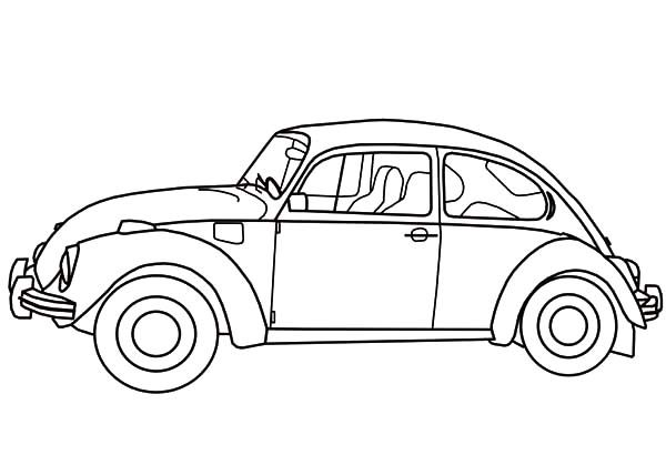 Beetle Car, : Herbie Beetle Car Coloring Pages