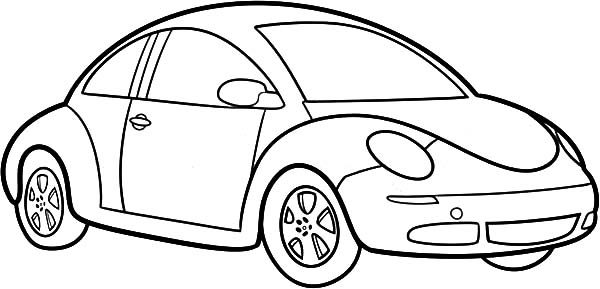 Beetle Car, : How to Draw Beetle Car Coloring Pages
