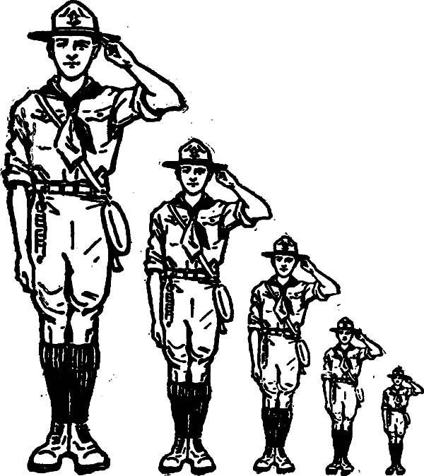 Boy Scouts, : How to Draw Boy Scouts Coloring Pages
