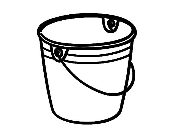 how to draw bucket coloring pages