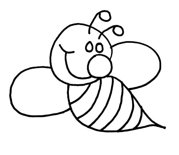 Bumble Bee, : How to Draw Bumble Bee Coloring Pages